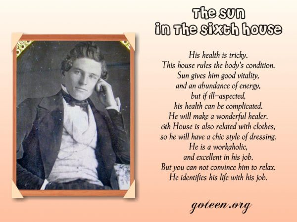 The Sun In The Sixth House