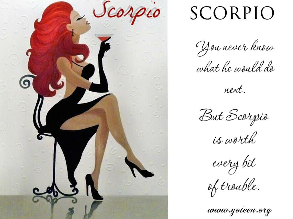 You Never Know With Scorpio