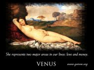 Venus Areas
