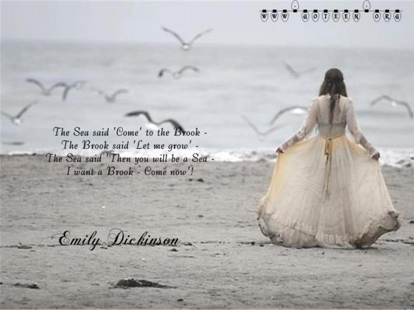 Emily Dickinson – The Sea And The Brook