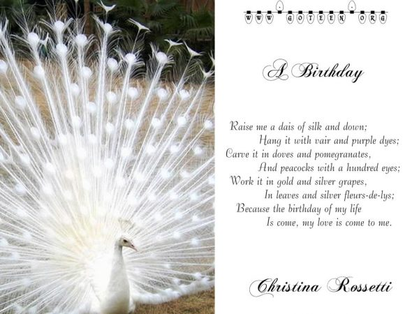 Christina Rossetti – A Birthday