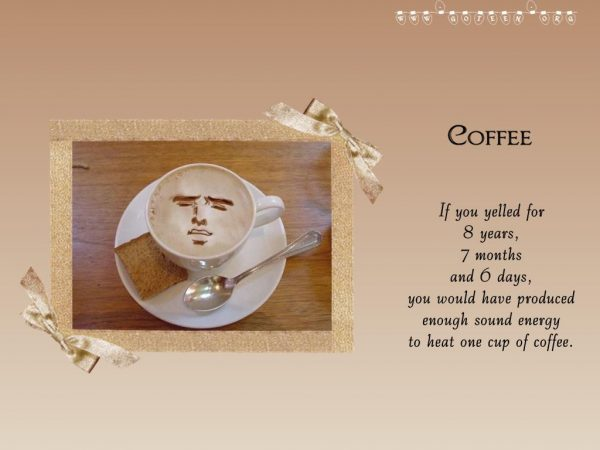 Energy For A Cup Of Coffee