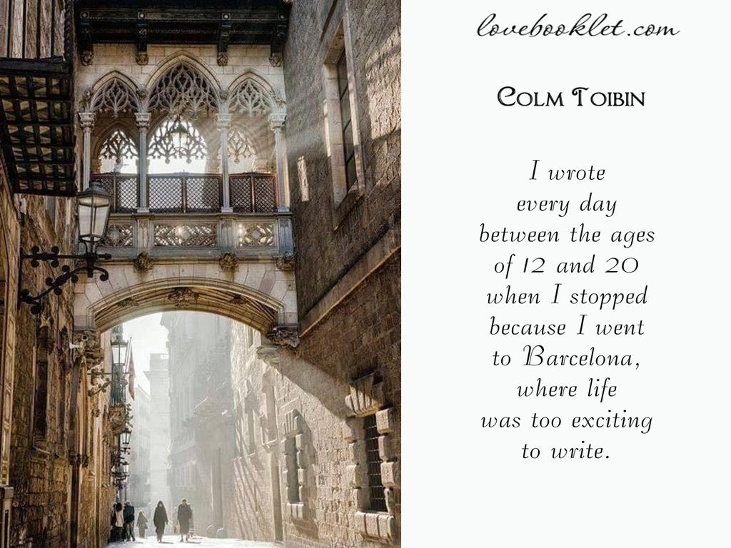 Colm Toibin About Barcelona