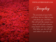 Foreplay: Sea of Roses