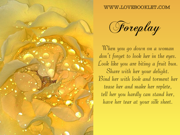 Foreplay: Going Down