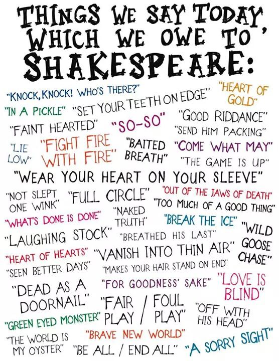 Shakespeare, Dear Shakespeare