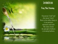Feng Shui Meaning