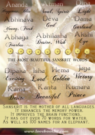 The Most Beautiful Words In Sanskrit
