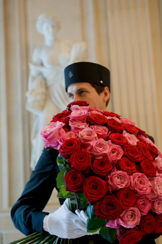 gentleman with the roses